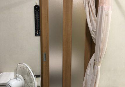 飛沫感染防止対策で木製建具設置🛠