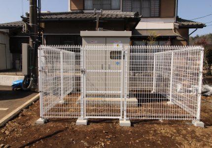 フェンス設置で安全に⚠
